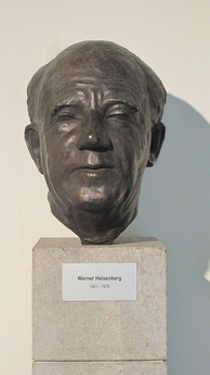 Bust of Heisenberg in his old age, on display at the Max Planck Society campus in Garching bei München.