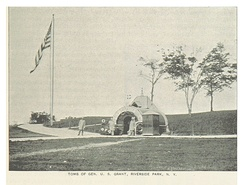 Temporary tomb in Riverside Park, 1893