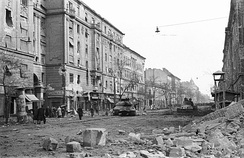 Rubble after end of fighting in Budapest 8th District