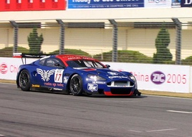 Russian Age Racing's Aston Martin DBR9 at ZIC.
