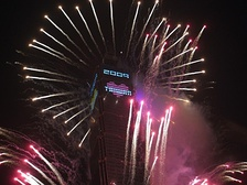 The Taipei 101 fireworks show in 2009.