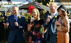 Sunrise presenters at the 2013 Melbourne Cup.