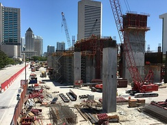 Brightline's MiamiCentral station under construction in 2016.
