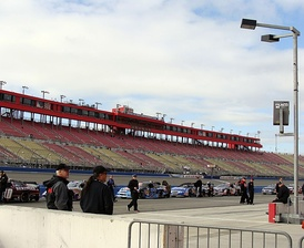 Main grandstand from pit road at Auto Club Speedway