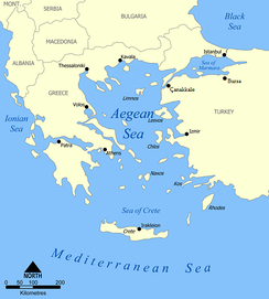 A map of the Aegean Sea