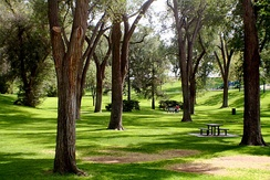Roosevelt Park is a historic park in central Albuquerque