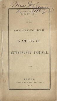 Cover page of the report for the 24th National Anti-slavery Bazaar-festival