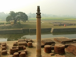Pillar erected by India's Maurya Dynasty Emperor Ashoka