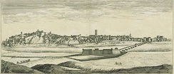 Depiction of Badajoz in the mid-1600s