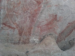 Cave art painting occurred about 7,500 years old in Baja California Peninsula. Culturally and geographically very distinct from Mesoamerica, indigenous peoples inhabited the region since the end of the Pleistocene.[42]