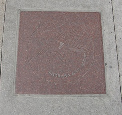 Barbara Ann Scott's star on Canada's Walk of Fame