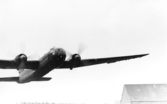 An He 177 making a low pass in January 1944.