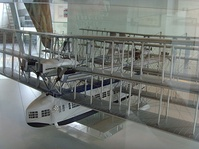 A scale model of a Caproni Ca.60 flying boat.