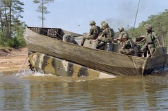 M2 Bradley configured for swimming, Fort Benning, June 1983