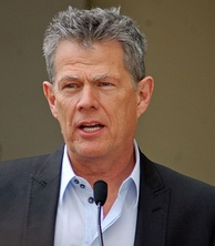 David Foster speaks at the ceremony honoring Bocelli with his star
