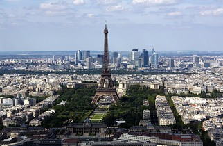 Champ de Mars - view from the Montparnasse Tower (2010)