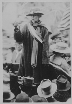 Florence Bayard Hilles, chairman of the Delaware Branch of the NWP and member of the national executive committee, was arrested picketing the White House July 13, 1917, sentenced to 60 days in Occoquan Workhouse. She was pardoned by President Wilson after serving 3 days of her term.