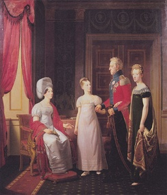 King Frederick VI and Queen Marie with Princesses Caroline and Vilhelmine