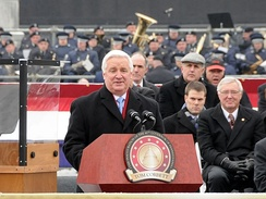 Tom Corbett delivering his inaugural address, January 18, 2011