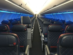 Delta Comfort+ on an Airbus A321