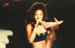 Jackson performing on one of the dates of her 1993–95 Janet World Tour