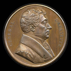 Caunois's medal of Lafayette