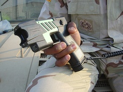 The M-26 TASER, the United States military version of a commercial TASER