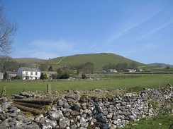 A typical countryside scene in rural Yorkshire Dales, England.