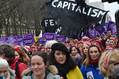 International Women's Day march in Paris on 8 March