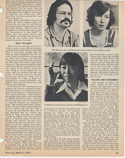 March 1, 1976, story about SLA members Bill and Emily Harris