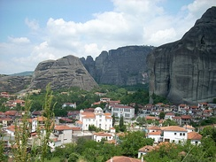 View of Meteora from Kastraki
