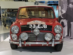 1964 outright winning Morris-Mini Cooper S