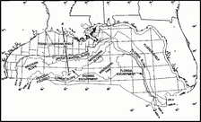Map of northern part of Gulf of Mexico
