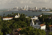 Olinda with Recife in the background. Olinda was declared a UNESCO World Heritage site in 1982.