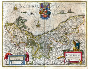 17th-century map of the Duchy of Pomerania