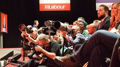 Photojournalists at the 2016 Labour Party Conference in Liverpool
