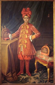 Portrait of crown prince Nguyễn Phúc Cảnh in France, 1787