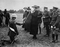 Princess Patricia inspecting the PPCLI in 1919