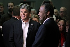 Carson and Sean Hannity in January 2016