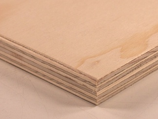 Softwood plywood made from spruce