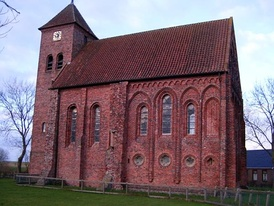 The 800-year-old Ursuskerk of Termunten in the north of the Netherlands