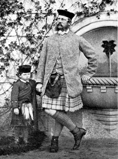 Wilhelm with his father, in Highland dress, in 1862