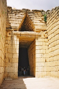 The Treasury of Atreus, or Tomb of Agamemnon in Mycenae 1250 BC