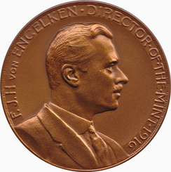 Friedrich Johannes Hugo von Engelken on his medal as Director of the Mint, designed by George T. Morgan