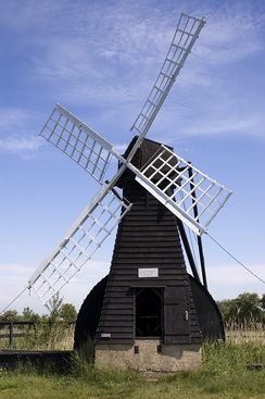 A windpump at Wicken Fen