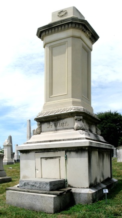 William Wirt Monument, Congressional Cemetery, Washington D.C.