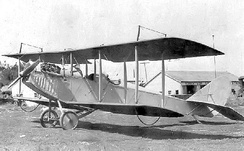 "This Curtiss JN-4 ""Jenny"" was the first plane for the Missouri Air National Guard. It was purchased by the officers and men of the 110th Observation Squadron in 1923."