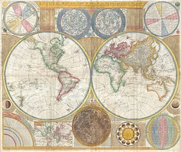 Samuel Dunn's 1794 General Map of the World or Terraqueous Globe shows a Southern Ocean (but meaning what is today named the South Atlantic) and a Southern Icy Ocean.