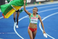 Meselech Melkamu of Ethiopia was triumphant in the 5000 metres.