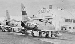 417th Fighter-Bomber Squadron Sabres at Clovis AFB